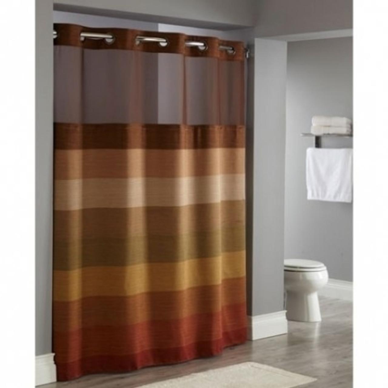 Stratus Window Hookless Shower Curtain HooklessShower