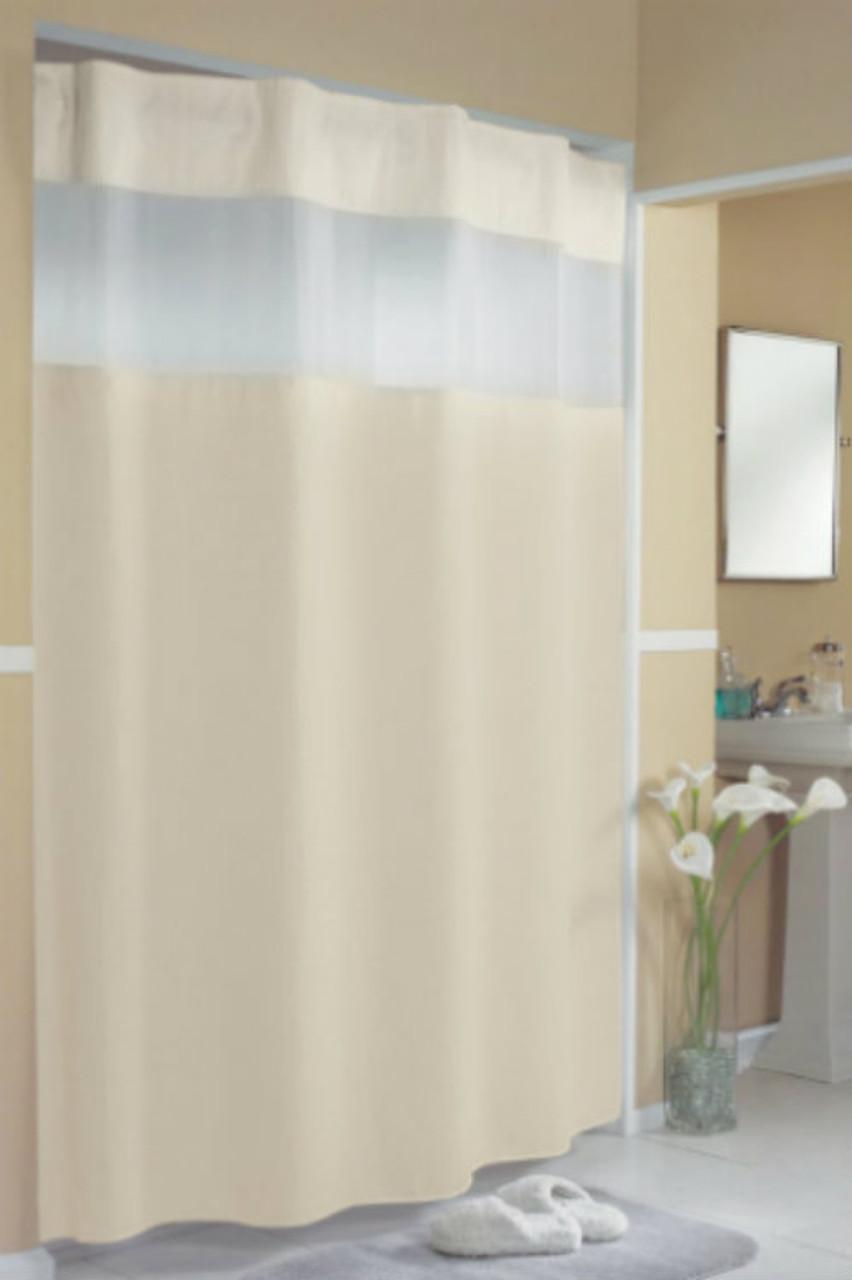 Pique Waffle Hookless Shower Curtain