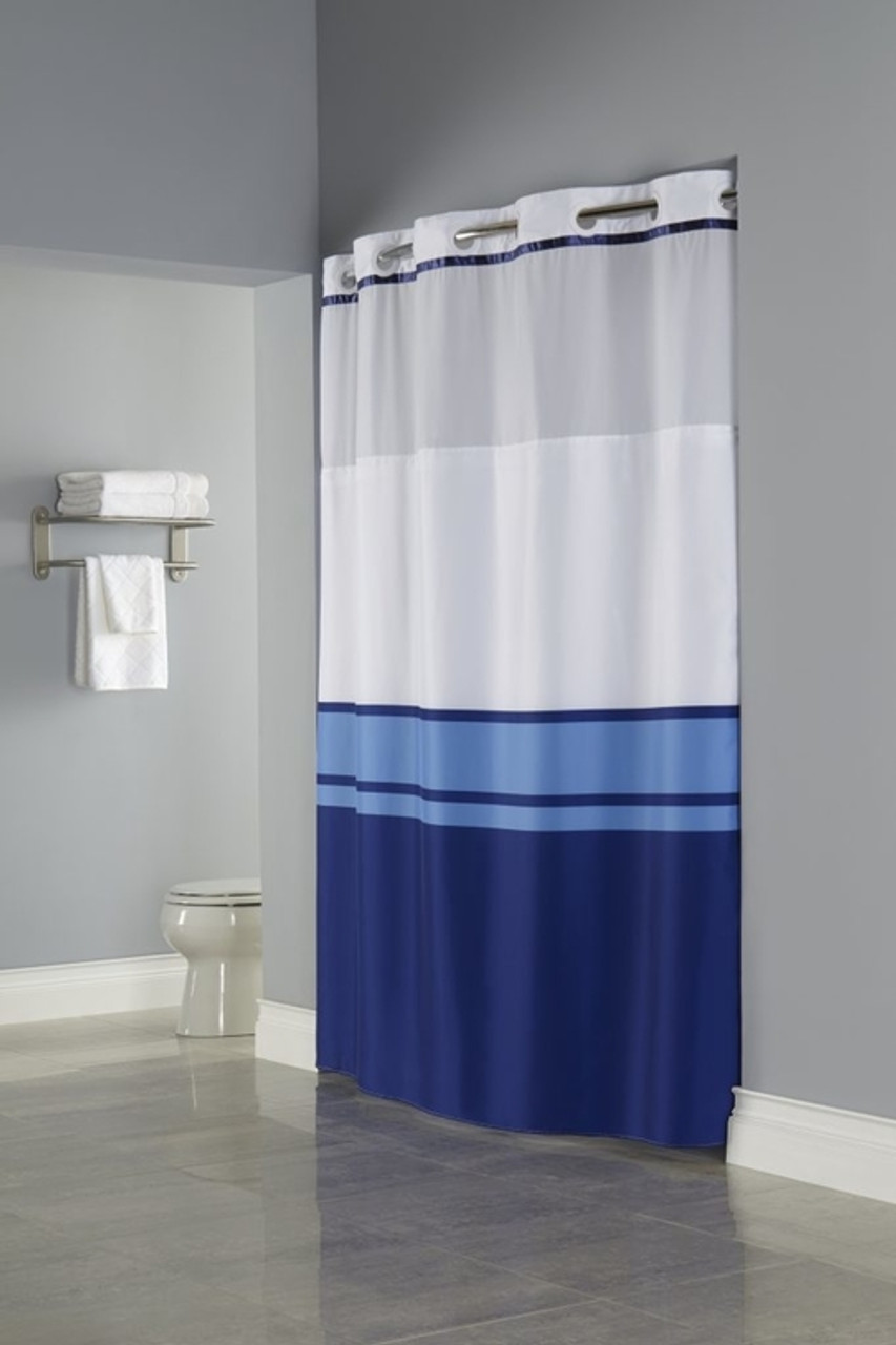 Brooks Hookless Shower Curtain Focus
