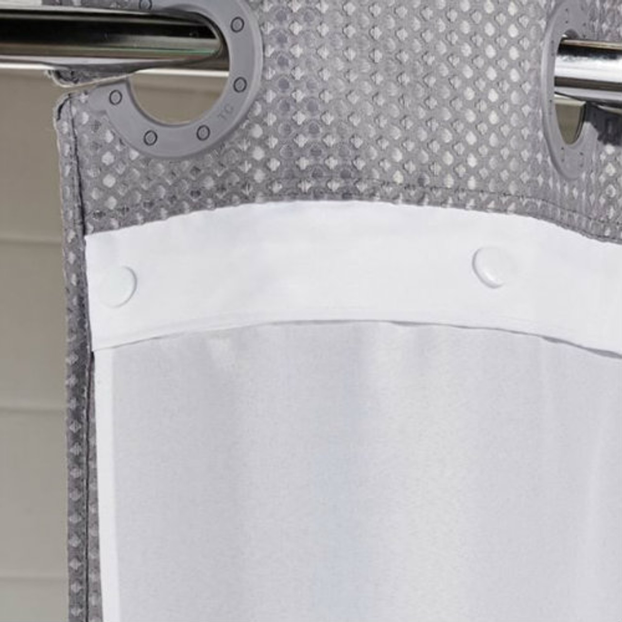 Snap Replacement Shower Curtain Liner Hookless Polyester