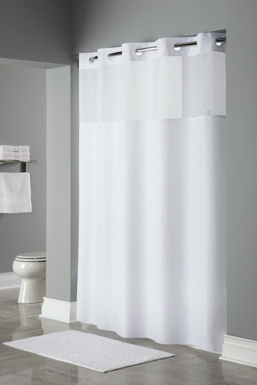 Mystery Hookless Shower Curtain