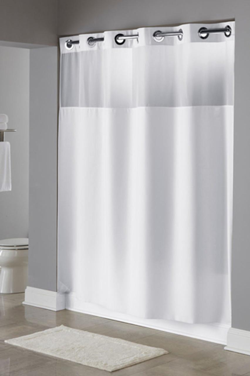 Illusion Hookless Shower Curtain