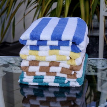 Venus group, Oceania, Cabana, pool, beach, towels, terrycloth, 100% cotton, four, striped, colors, bulk