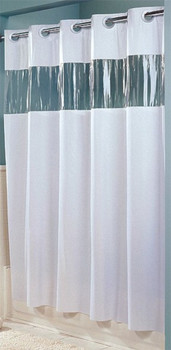 8 Gauge Vinyl Vision Hookless Shower Curtain