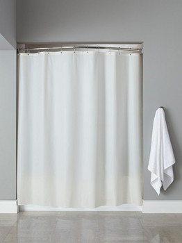 10 Gauge Basic Vinyl Hooked Shower Curtain