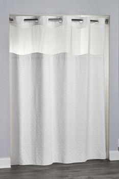 Eternity, Hookless, Shower, Curtain, shower, curtain, focus, group, hookless, cream, color