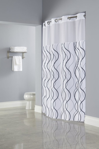 Waves Hookless Shower Curtain, Waves, Hookless, Shower, Curtain, hookless, focus group, bulk