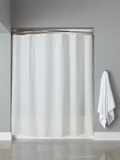 10 Gauge Basic Vinyl hooked Shower Curtain, 10 Gauge, Basic, Vinyl, hooked, Shower, Curtain, hookless, focus group, bulk