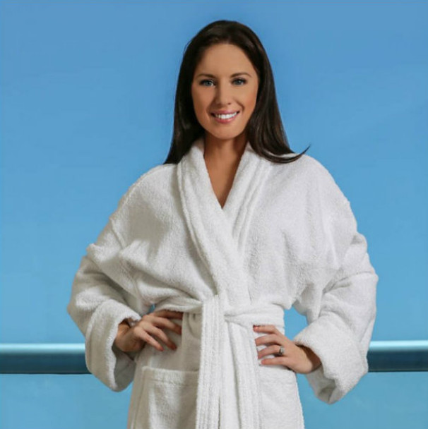 "Terry Shawl Robe, Terry, Shawl, Robe, venus, group, 100%, cotton, 52"", 52, inches, white"