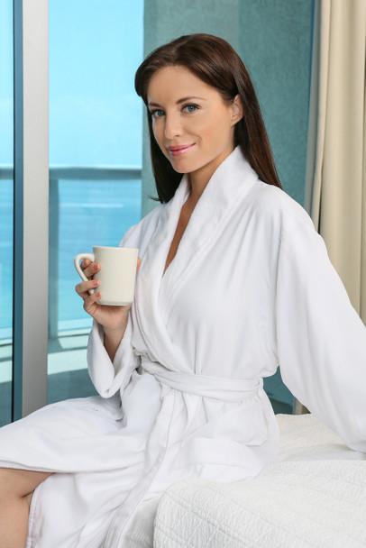 Five, Star, Hotel, Robe, Venus, Group, microfiber, shawl, robe, white, cotton, poly, blend