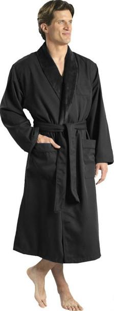 Noir Luxury Microfiber & Plush Shawl, Black, Luxury, Microfiber, Plush, Shawl, Robe, luxury, microfiber, plush, lined, microfiber, shawl shawl, black
