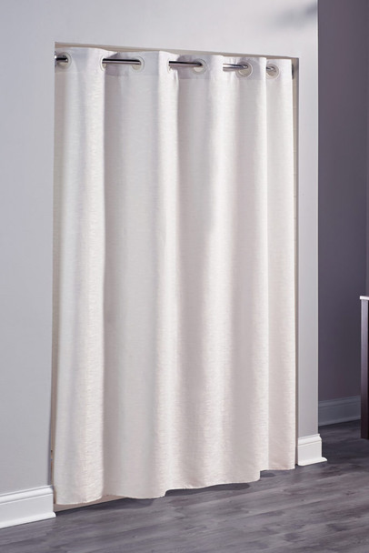 Frost, Hookless, Shower, Curtain, shower, curtain, focus, group, metallic,100% polyester, yarn