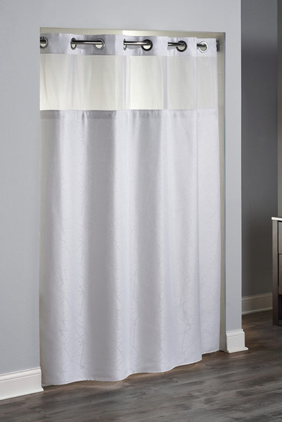Geo, Hookless®,Shower, Curtain, shower, curtain, hookless, focus, group