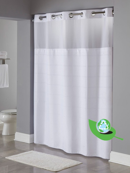 Alexandria, RePET, Hookless, Shower, Curtain, shower, curtain, hookless, focus, group, environmental, friendly
