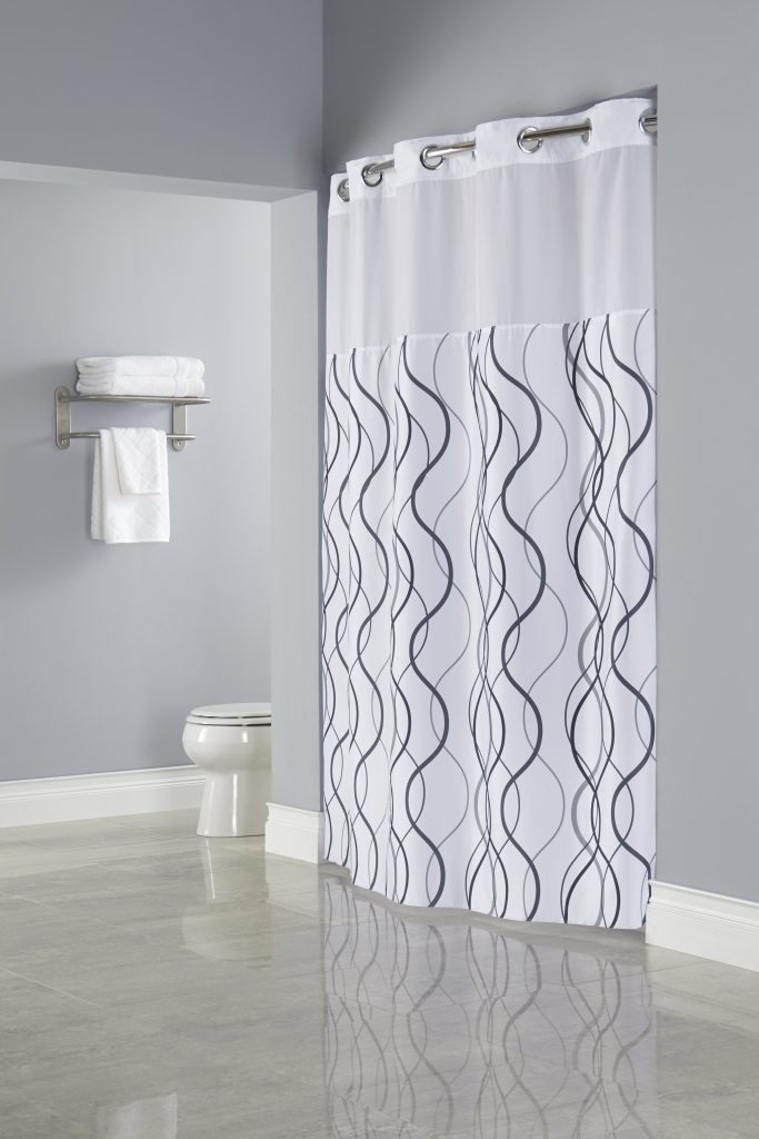 Waves HooklessR Shower Curtain
