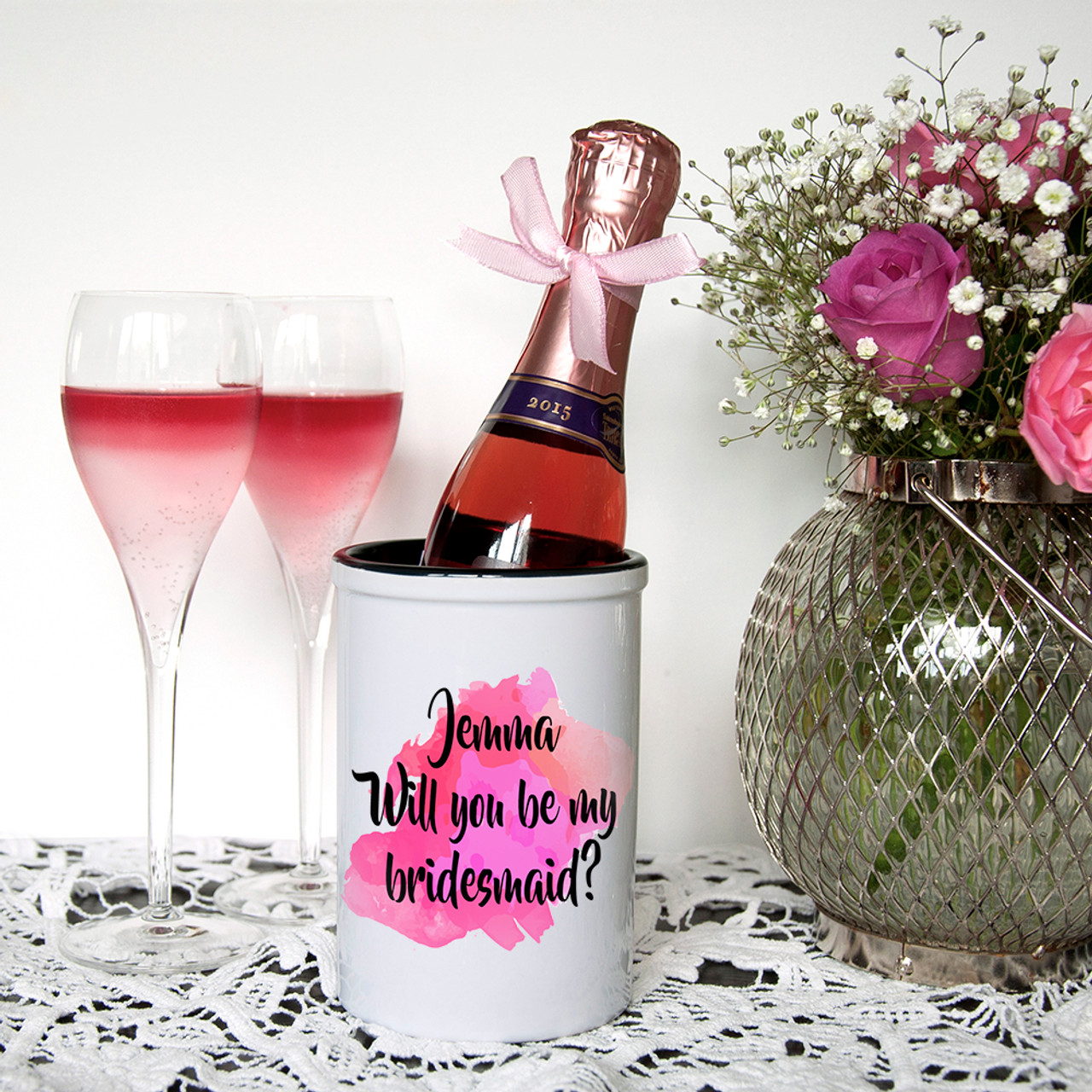 18885041e55 Will You Be My Bridesmaid Personalised Miniature Bucket