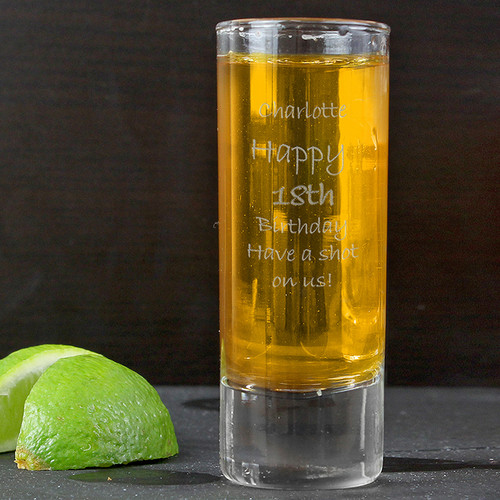 Personalised Engraved Shot Glass From Something Personal
