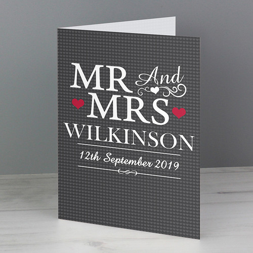 Personalised Mr & Mrs Card From Something Personal