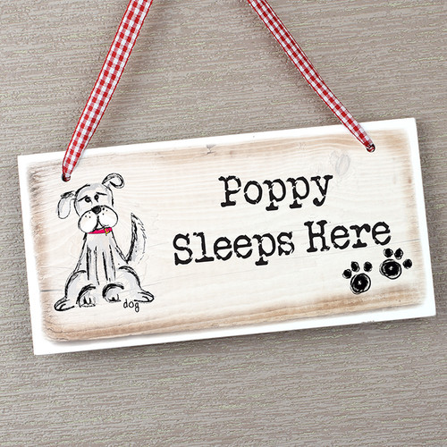 Personalised Dog Wooden Sign From Something Personal