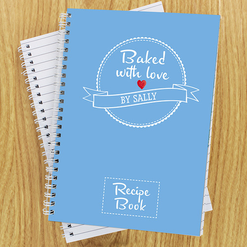 Personalised Baked With Love Recipes Notebook From Something Personal