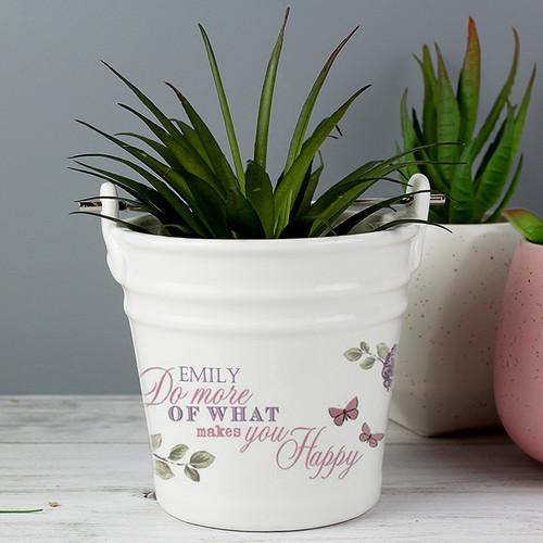 Personalised Secret Garden Porcelain Bucket From Something Personal