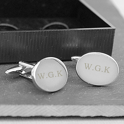 Personalised Oval Cufflinks From Something Personal