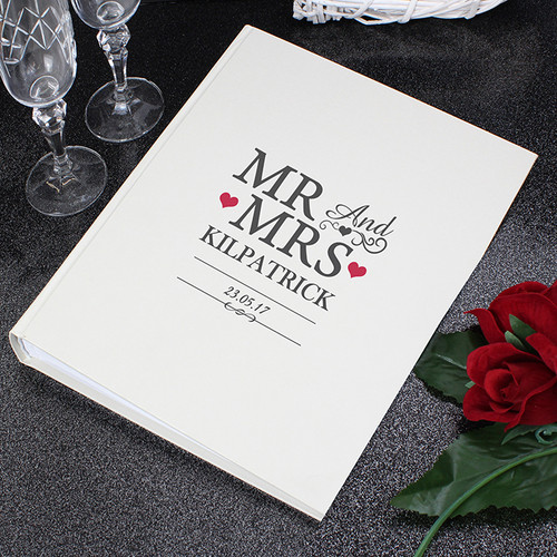 Personalised Mr & Mrs Album With Sleeves From Something Personal