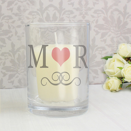 Personalised Monogram Votive Candle Holder From Something Personal