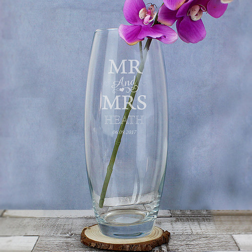 Personalised Mr & Mrs Bullet Vase From Something Personal