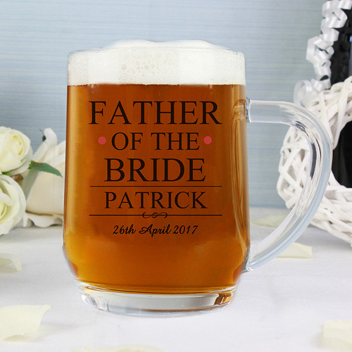 Personalised Father of the Bride Tankard From Something Personal