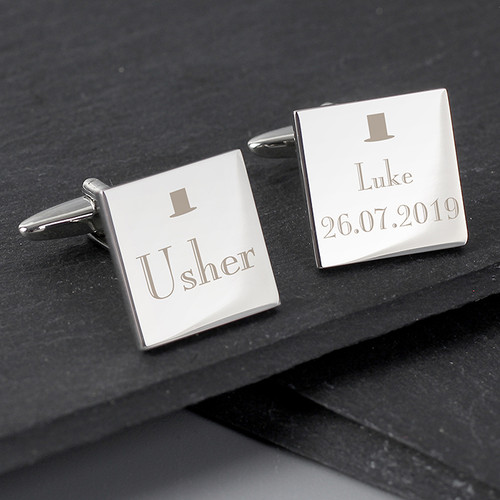 Personalised Usher Square Cufflinks From Something Personal