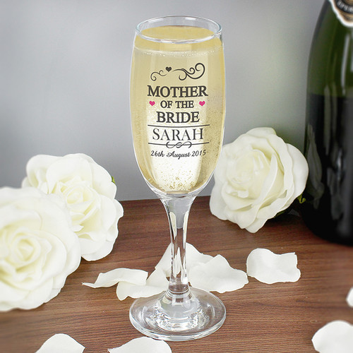 Personalised Mother Of The Bride Glass Flute From Something Personal