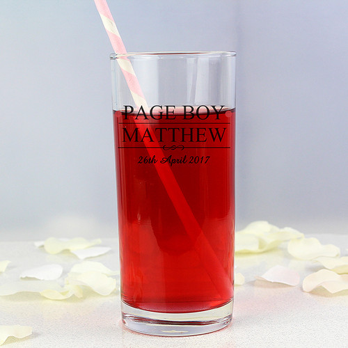 Personalised Page Boy Hi Ball Glass From Something Personal