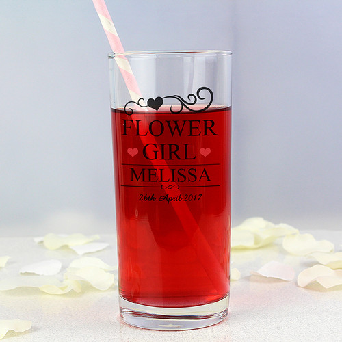 Personalised Flower Girl Hi Ball Glass From Something Personal
