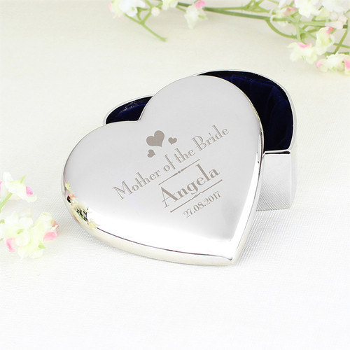 Personalised Mother of the Bride Heart Trinket From Something Personal