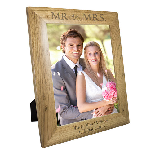 Personalised Mr & Mrs 10x8 Wooden Frame From Something Personal