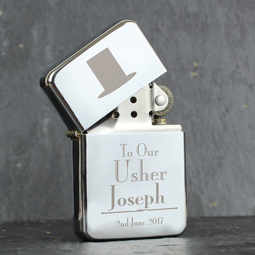 Personalised Usher Lighter From Something Personal