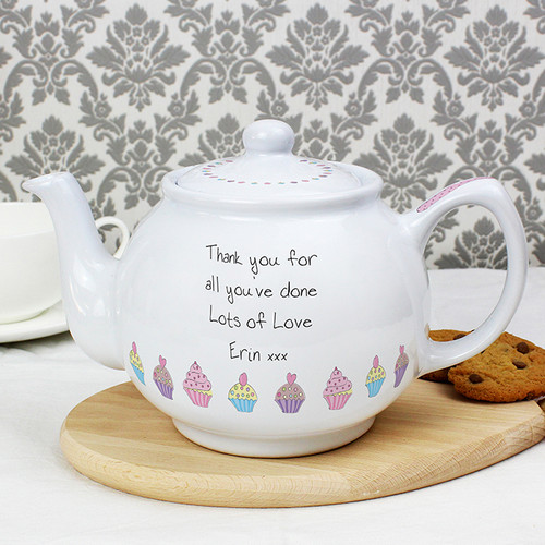 Personalised Cupcake Teapot From Something Personal
