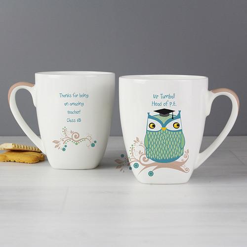 Personalised Mr Owl Teacher Latte Mug From Something Personal