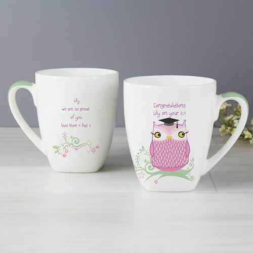 Personalised Miss Owl Teacher Latte Mug From Something Personal