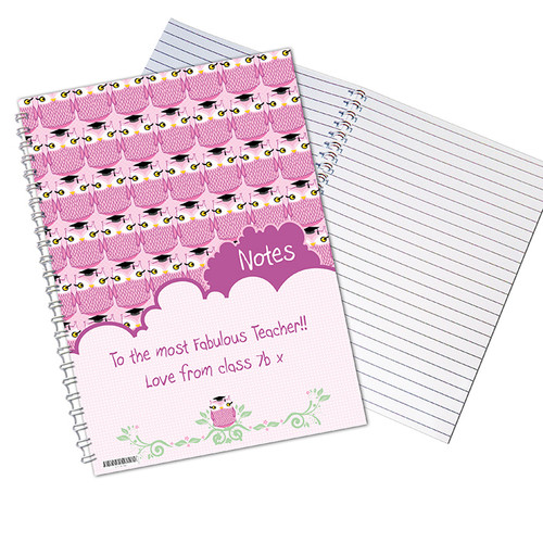 Personalised Miss Owl A5 Notebook From Something Personal