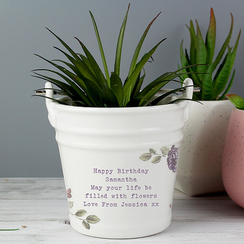 Personalised Secret Garden Porcelain Bucket From Something Personal