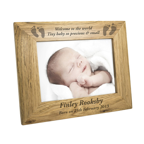 Personalised Baby Feet Wooden Frame From Something Personal
