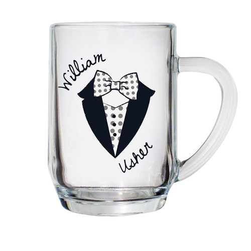 Personalised Dotty Wedding Male Tankard From Something Personal