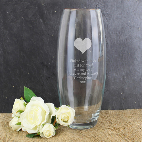 Personalised Heart Bullet Vase From Something Personal