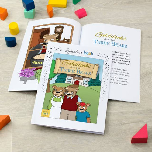 Personalised Goldilocks and Three Bears Book From Something Personal