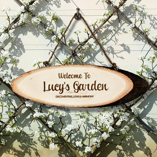 Personalised Welcome To My Garden Wooden Sign From Something Personal