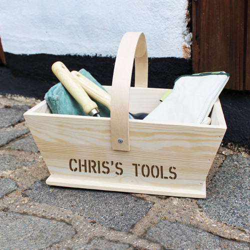 Personalised Gardeners Trug From Something Personal