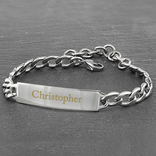 Personalised Stainless Steel Unisex Bracelet From Something Personal