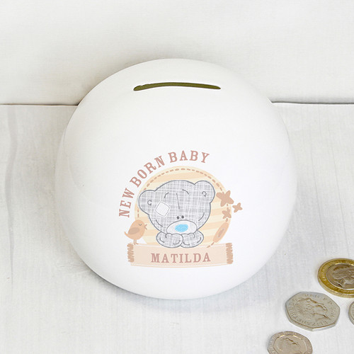 Personalised Tiny Tatty Teddy Money Box From Something Personal